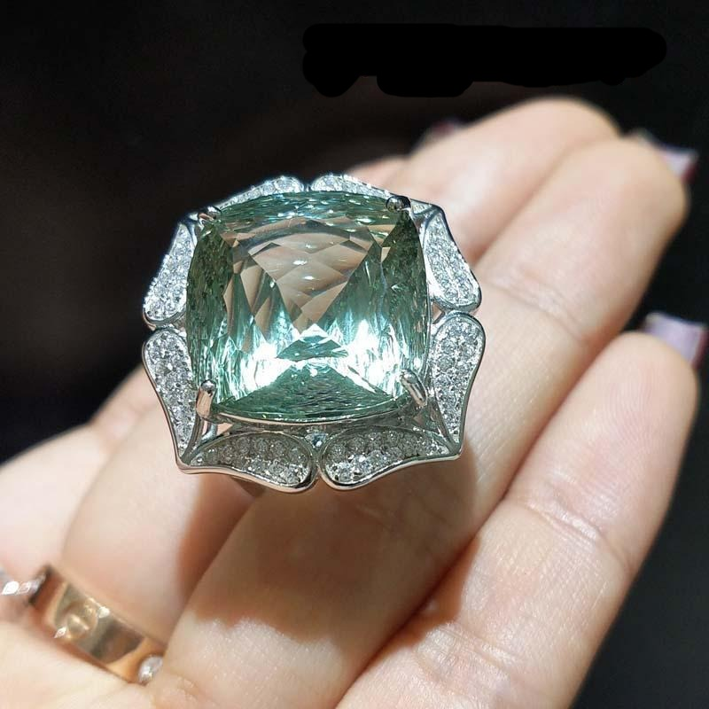 Accent Green Amethyst  Beautiful Ring