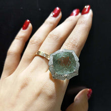 Load image into Gallery viewer, Natural Green Amethyst Ring