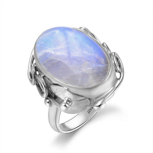 Natural Moonstone 925 Sterling Silver Ring