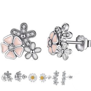 Summer jewelry+ Cute studs+ Girly+ Flowers+ Swarovski