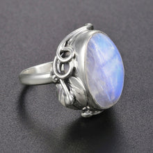 Load image into Gallery viewer, Natural Moonstone 925 Sterling Silver Ring