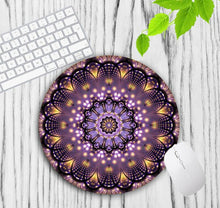 Load image into Gallery viewer, Buddhist Flower Mandala Mouse Pad