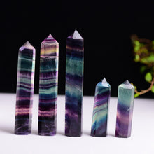 Load image into Gallery viewer, Flourite Quartz Crystal Wand - Spandha