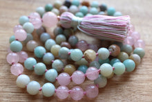 Load image into Gallery viewer, Amazonite and Rose Quartz Mala - Spandha