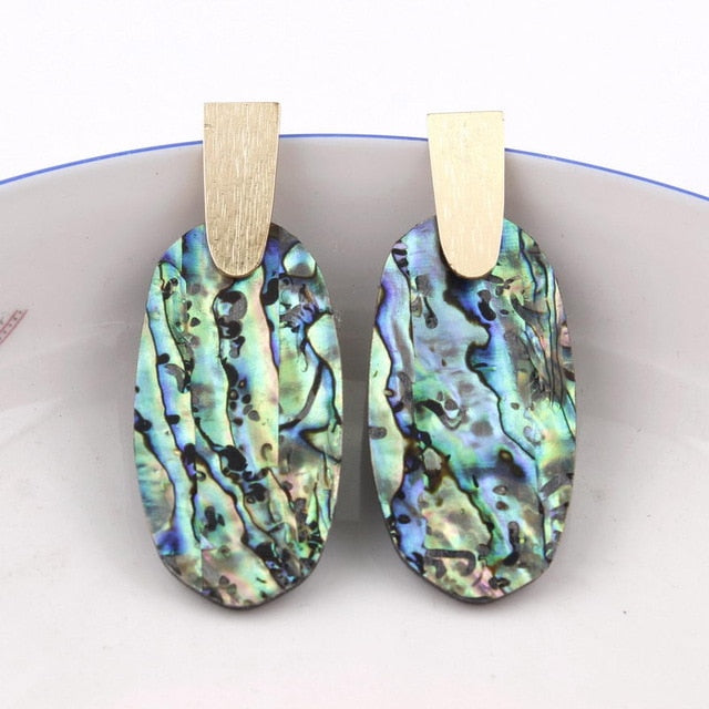 Abalone Shell Earrings - Spandha