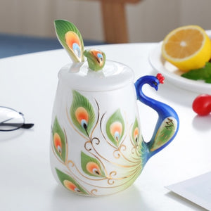 Peacock coffee mug - Spandha