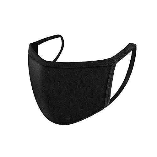 Ruphance Mouth Masks, Unisex Adult Cotton Blend Ear Loop Face Mask, Anti Dust Warm Ski Cycling Safety K-pop Fashion Mask Use for Women Man,Black (3 PCS)
