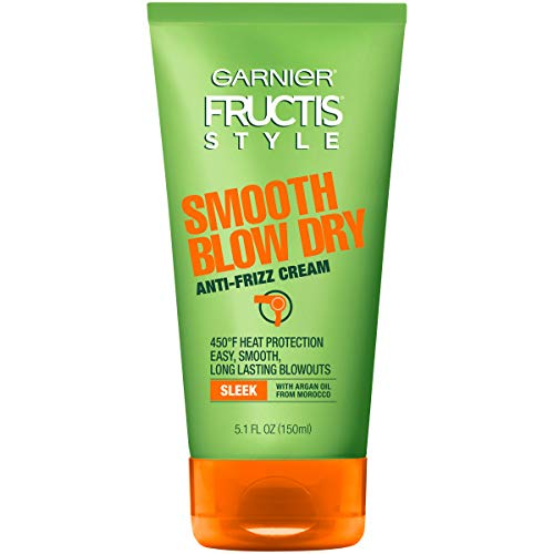 Garnier Fructis Style Smooth Blow Dry Anti-Frizz Cream, 5.1 fl. oz.