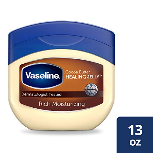 Vaseline Healing Jelly Moisturizer For Dry Cracked Skin Cocoa Butter Hypoallergenic 13 oz