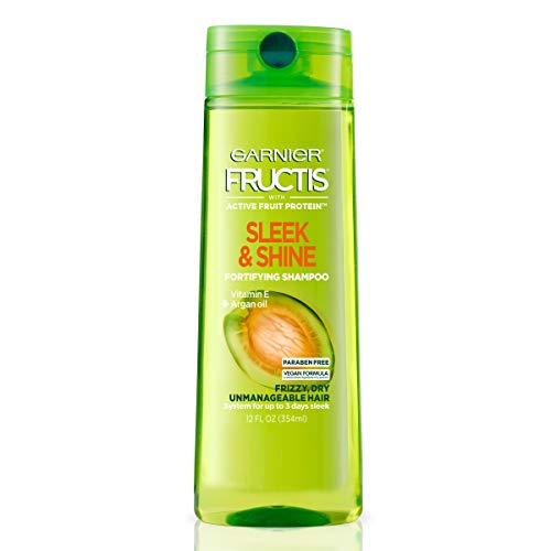 Garnier Fructis Sleek & Shine Shampoo for Frizzy Hair, 12.5 Ounce