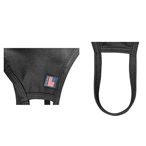 MEGLIO Made in USA Cotton Washable Mask with flag label Pack of 2 (Black)