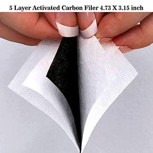 Mouth Masks for Dust Protection Anti Face Mask Washable Earloop Mask Activated Carbon Filter