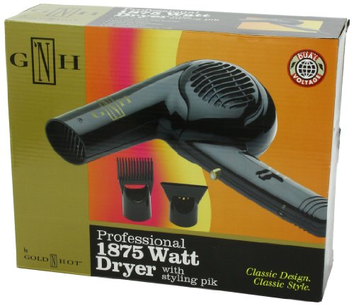 Gold 'N Hot Professional 1875-Watt Dryer with Styling Pik
