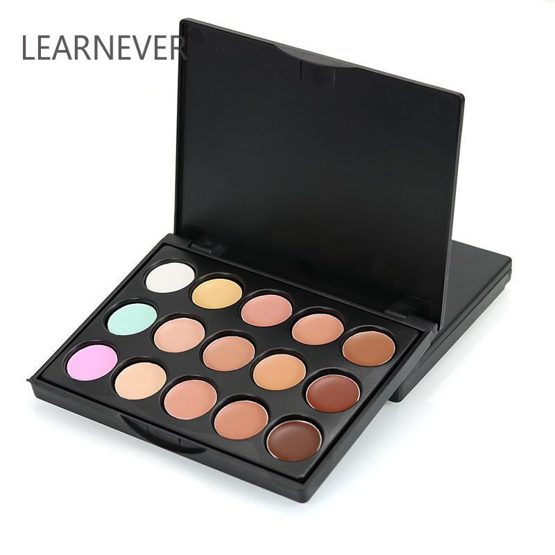 15 Colors Concealer Makeup Palette Brightly Foundation Contour Cover Freckles Acne Marks Dark Circles Soft Base Isolation Skin