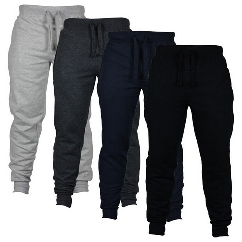 SHUJIN Men Casual Sweatpant Fashion Joggers Drawstring Trousers Solid Color Men's Hip Hop Joggers Fitness Pants Gym Sportwear