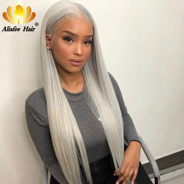 Aliafee Blonde Wig 13x4 Ombre Wig Peruvian Remy Straight Hair 150% Lace Front Human Hair Wigs With Baby Hair For Black Women