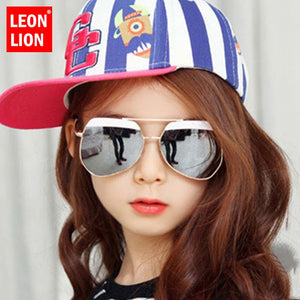 LeonLion Fashion Retro Childen Sunglasses Vintage Sunglasses Childen Luxury Glasses For Boy/Girl Brand Designer Oculos De Sol