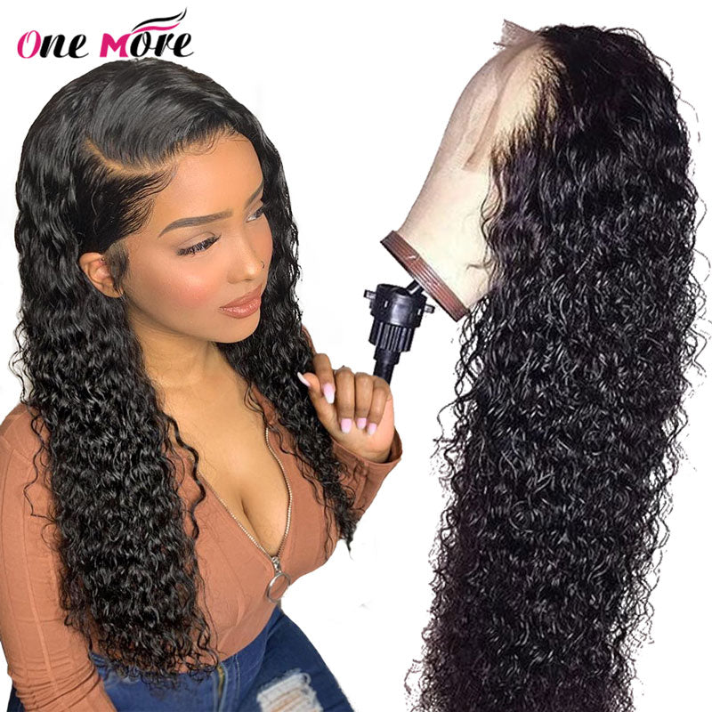 Curly Human Hair Wig One More Brazilian Deep Wave Lace Front Human Hair Wigs For Black Women 150% Density 13X6 Lace Front Wig