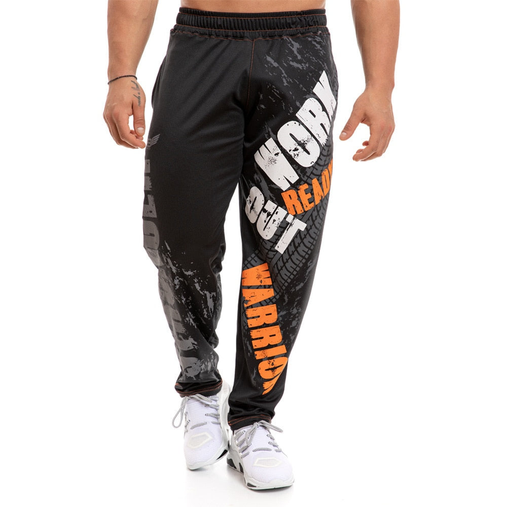 Fashion Print Loose Casual Pants Joggers Sweatpants Cotton Track Pants Men Gym Fitness Workout Trousers Spring Male Sportswear