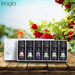 Inagla 6pcs/set Essential Oils For Aromatherapy Diffusers Massage Fragrances Oil Aroma Oils Rosemary Sandalwood Essential Oils