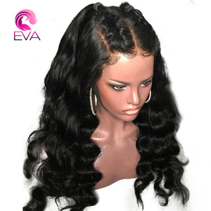 "Eva Hair Full Lace Human Hair Wigs With Baby Hair Pre Plucked Natural Hairline Lace Wigs Brazilian Body Wave Remy Hair 10""-24"""