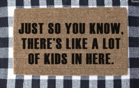 Worshop Doormat Lots of Kids