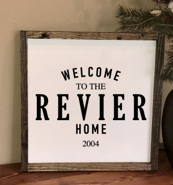 16x16 Welcome to {Last Name} Home