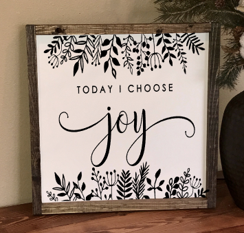 Workshop 16x16 Today I Choose Joy