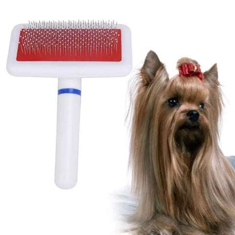 PSC Pet Hair Trimmer Comb Cat Grooming Supply Brush Slicker Tool Long Hair Pet White Brush