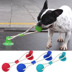 Pet Toys Suction Cup Rubber Dog Chew Toys Ball Tug Tooth Cleaning Chewing Rope Handle