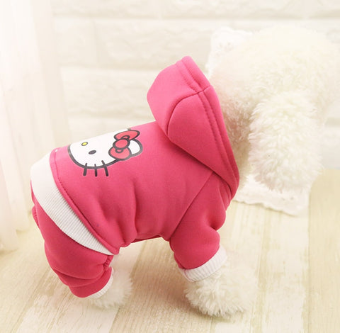 Cartoon Hoodie Pet Dog Clothes Coat Jacket