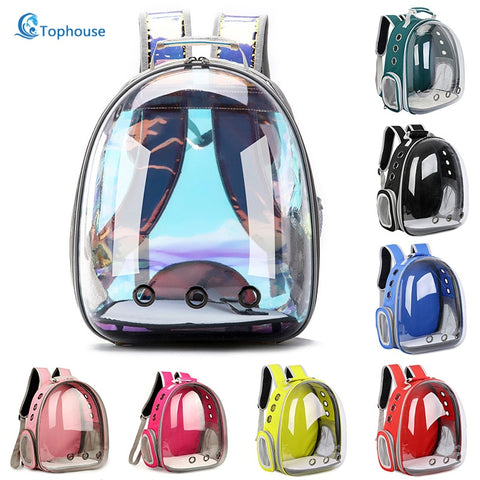Cat bag Breathable Portable Pet Carrier Outdoor Travel backpack Transparent Space