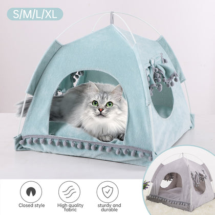 Dog Cat Tent Breathable Pet Puppy House Bed Comfortable Cave