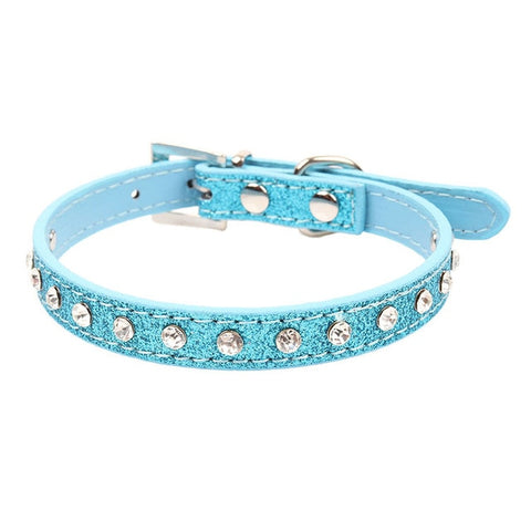 Small Cats Collars Necklace Kitten Dogs Collar Rhinestone Pet Puppy Collar Harness