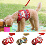 Soft Printed Dog Harness and Leash Pet Puppy Cat Vest Jacket