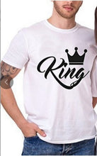 Load image into Gallery viewer, King & Queen black/white shirts