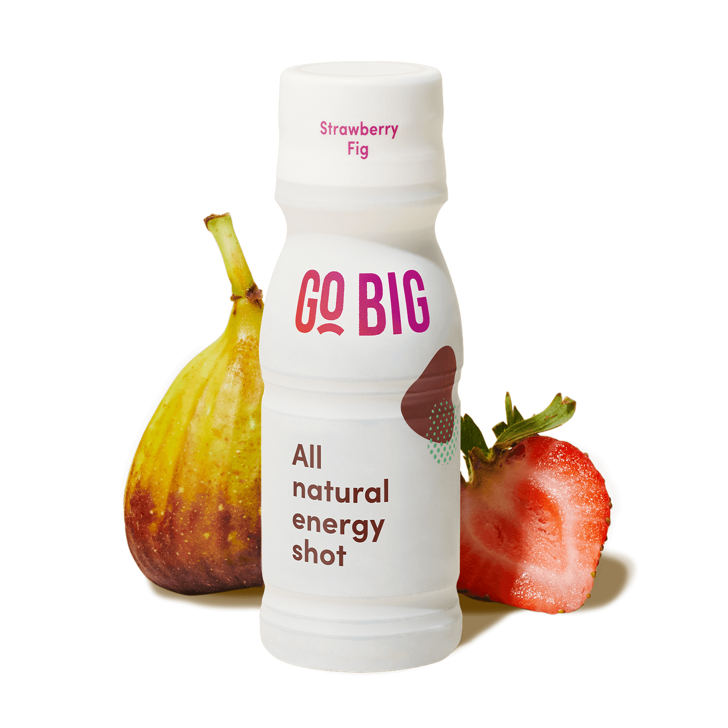 GO BIG strawberry fig energy shot