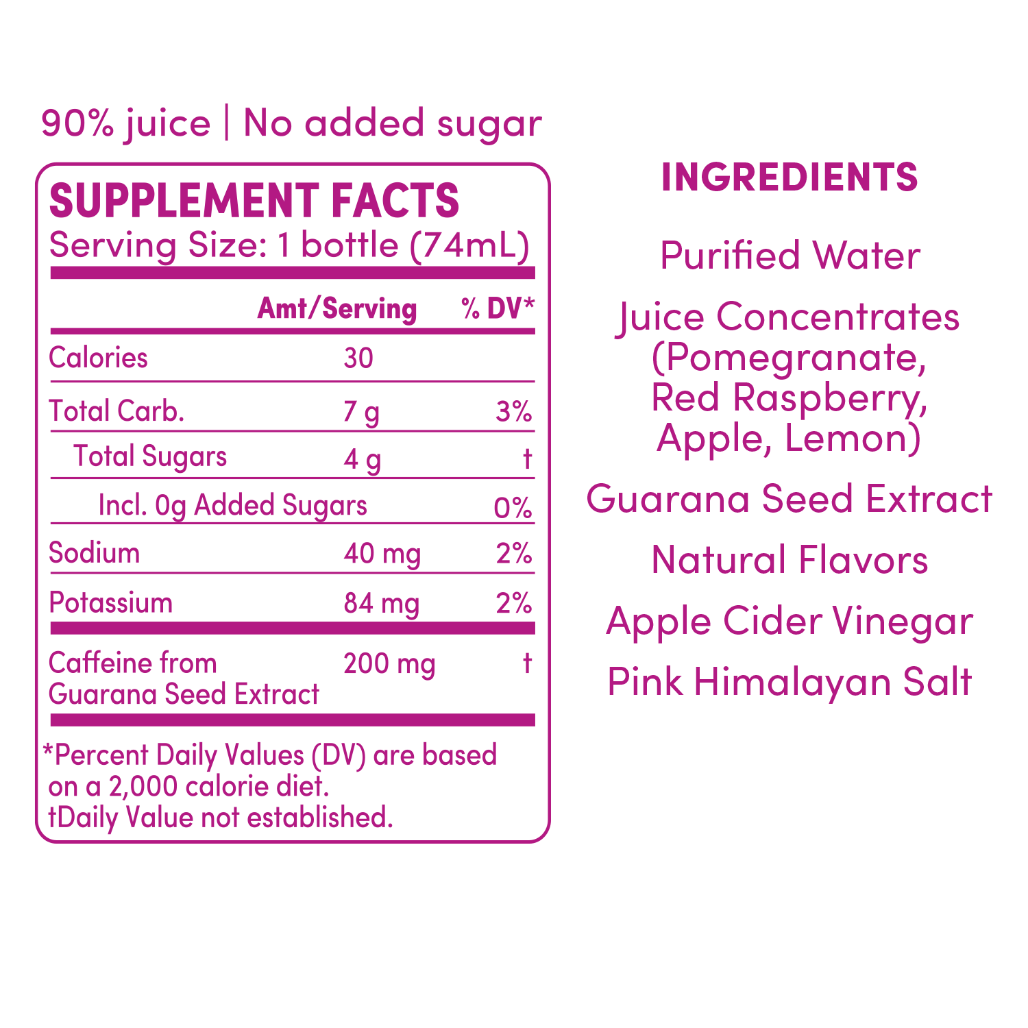 GO BIG, GO BIG, Raspberry Pomegranate, Energy Shot, Supplement Facts