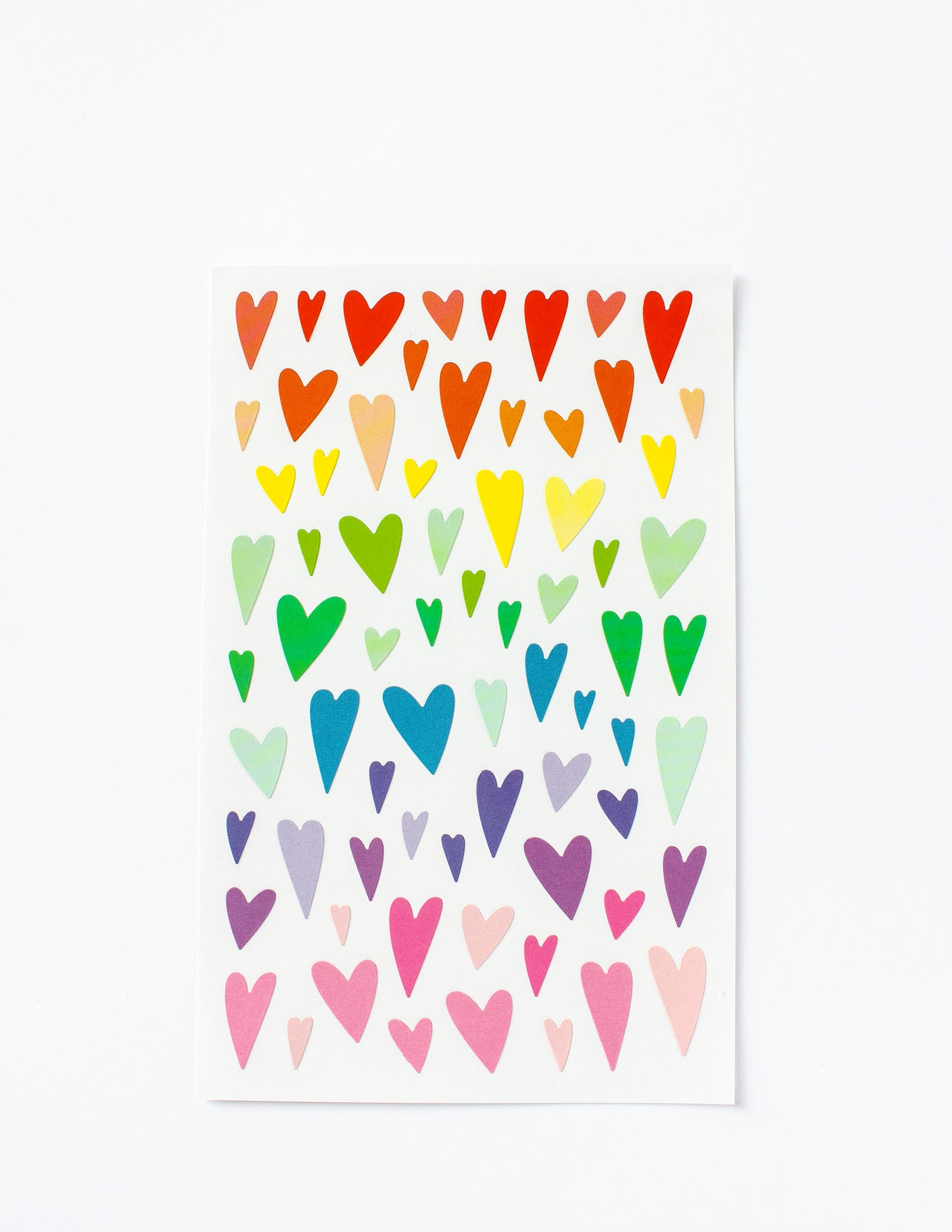Rainbow Heart Stickers