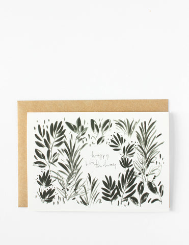 Happy Birthday Botanical Card