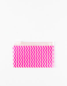 Small Neon Slide Zip Pouch