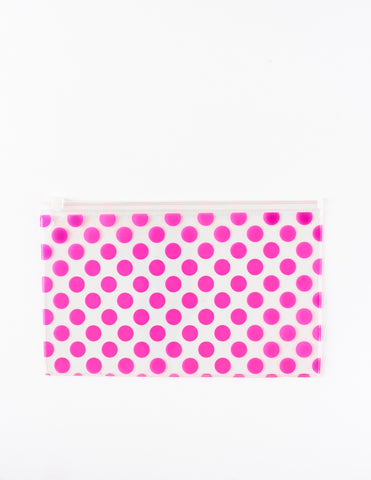 Large Neon Slide Closure Pouch