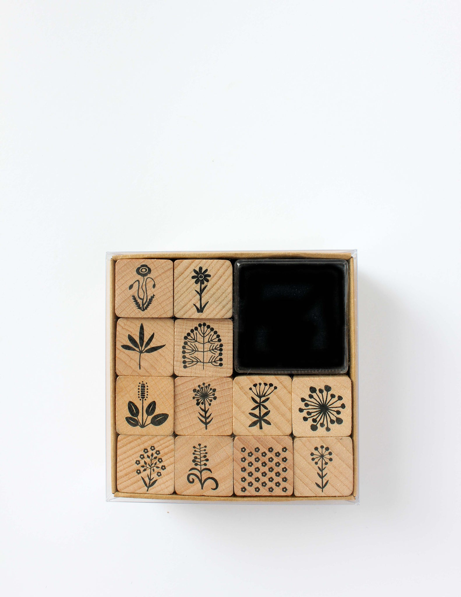 Flower Motifs Rubber Stamp Set