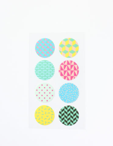 Round Patterned Washi Stickers