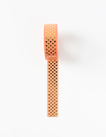 Gold Foil Salmon Washi Tape