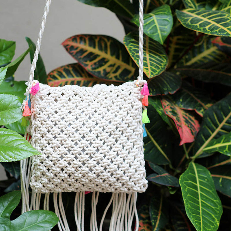 Handmade Embroided Crossbody Bag