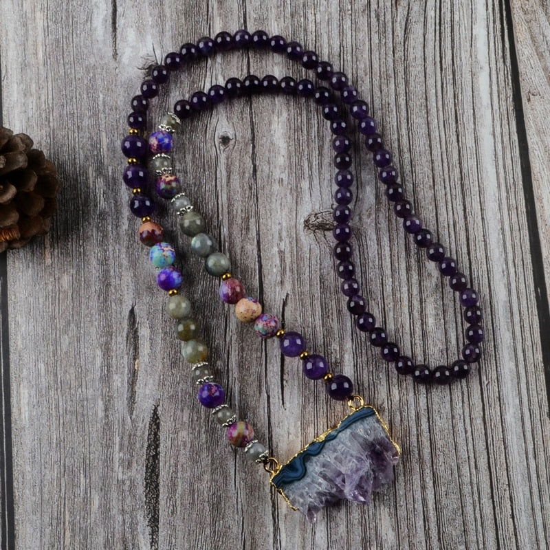 Natural Amethysts Necklace