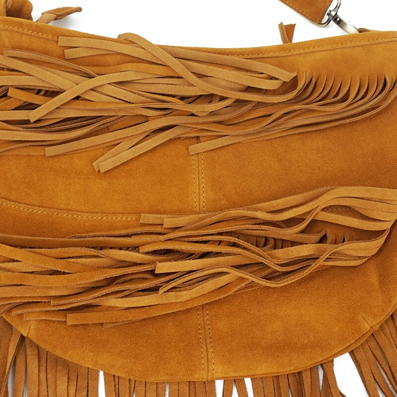 Genuine Suede Shoulder Bag