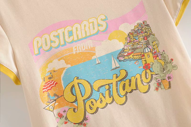 Postcards from Positano Cotton Tee