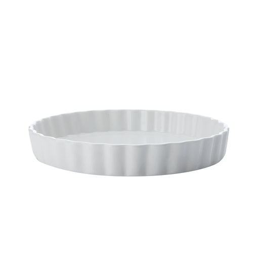 WHITE BASICS QUICHE DISH 28CM